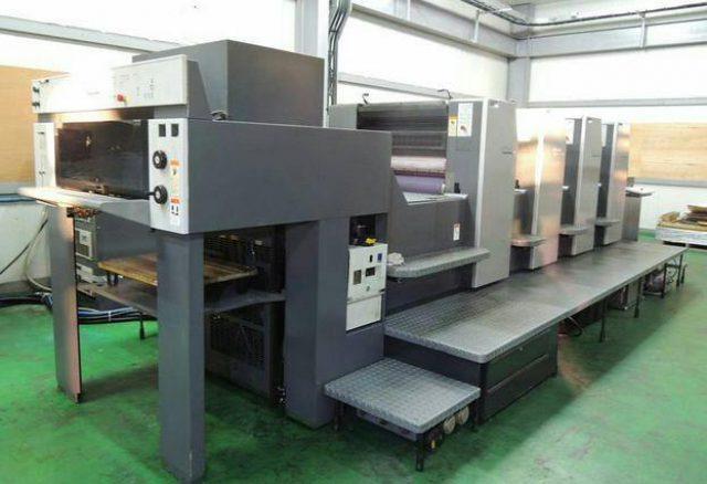 دستگاه چاپ 4 رنگ دو ورقی SM74